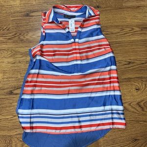NWT The Limited Outback Red Blue Tank Blouse M